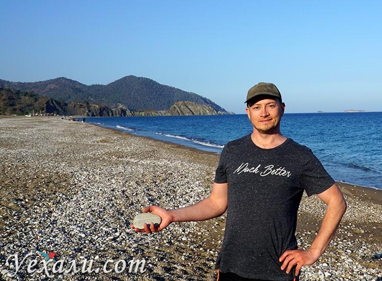 Пляж Чиралы, Турция, февраль.