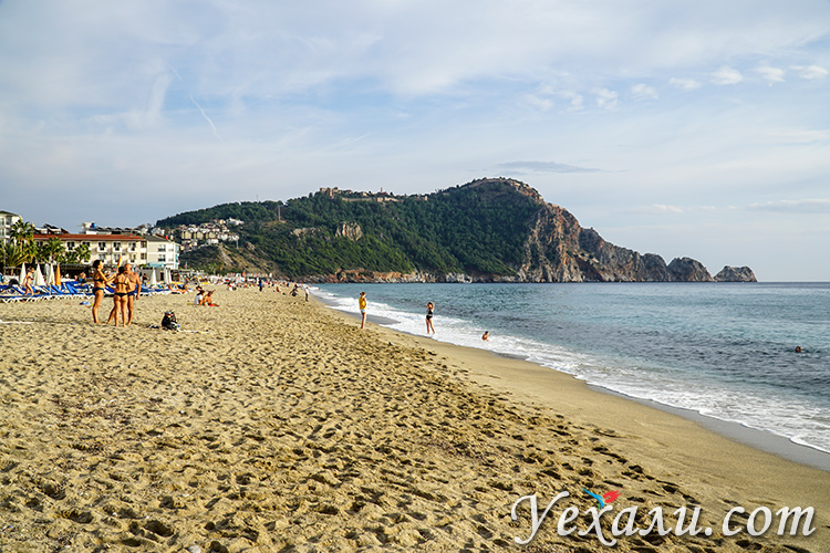Пляж Клеопатры, турецкая Алания.