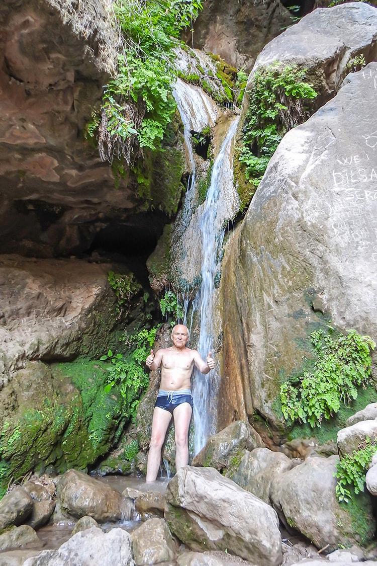 Водопад в Долине Бабочек Фетхие, Турция.
