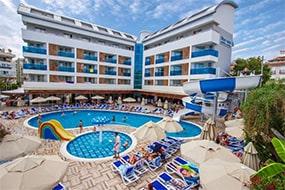 Отель Blue Wave Suite Hotel в Аланье, Турция.