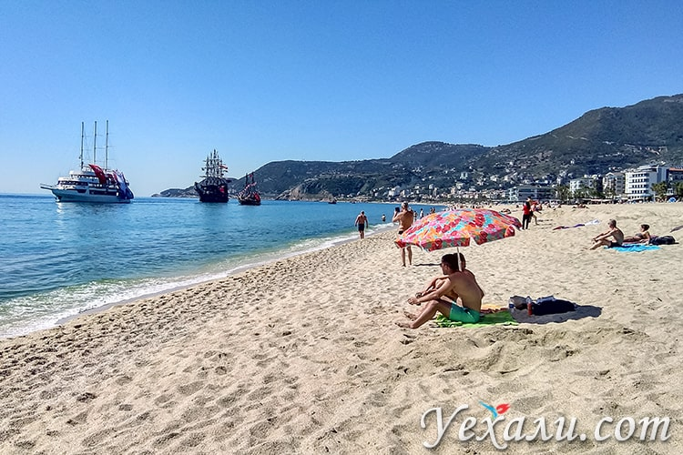 Пляж Клеопатры, Аланья, Турция. фото сделано в марте.