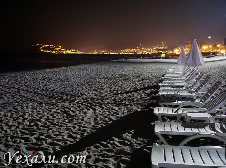 Пляж Оба (район Обакей), Алания, Турция.
